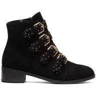 SOFT GOLD BUCKLE BOOTS-41