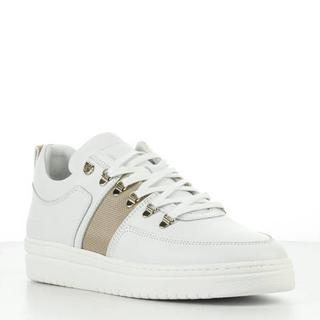 Yeye Maze L leren sneakers wit/goud