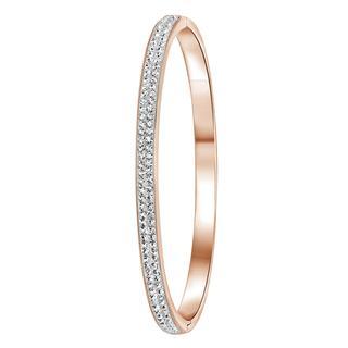 Stalen armband roseplated wit kristal