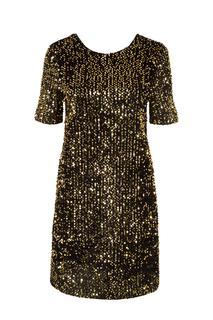 Korte jurk pailletten