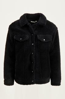 Zwarte teddy jas