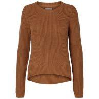 Vero Moda Gebreide trui met lange geribde mouwen