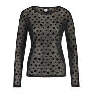 Catwalk Junkie 1802010600 LS SPICY STARS T-Shirt Lange mouw 100 black