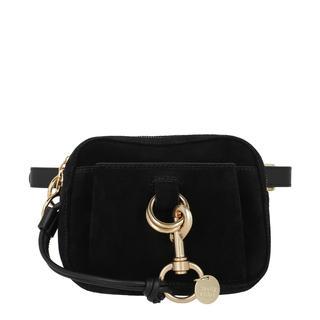 Tasche - Tony Belt Bag Suede Black in zwart voor dames