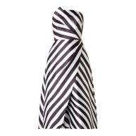 Ted Baker Frieda strapless jurk van satijn met streepdessin