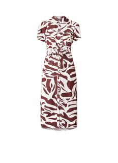Blousejurk van linnen met zebradessin