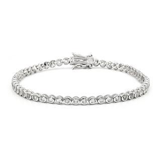 Zilveren armband met witte topaasstenen