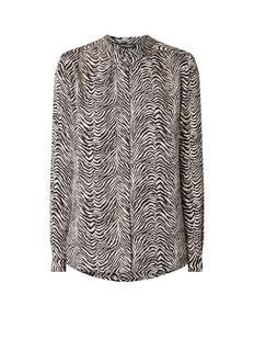 Blouse van zijde met zebradessin