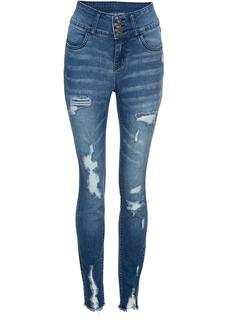 Dames high waist jeans in blauw