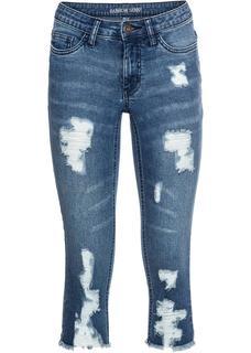 Dames capri-jeans in blauw