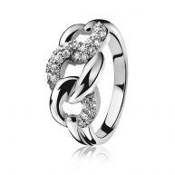 ZINZI zilveren ring gourmet wit ZIR790