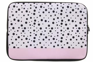 Universele dots design sleeve 15 inch