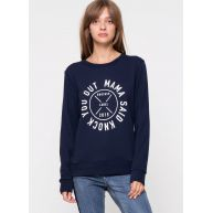 Another-Label Dudley doll terry l/s navy