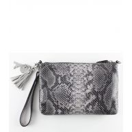 By LouLou Clutches Pouch Perfect Python Grijs