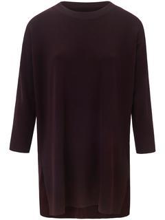 Lange trui van 100% scheerwol (Biella Yarn) rood