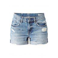 AllSaints Pam denim shorts met destroyed look