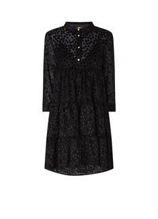 Rolly blousejurk met stippendessin van fluweel