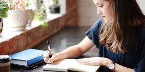 met de hand schrijven