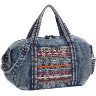 Blauwe vintage shopper denim