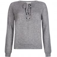 LACE UP KNIT GREY