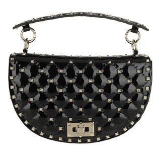 Tasche - Saddle Spike Crossbody Bag Patent Leather Black in zwart voor dames