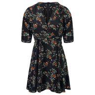 Floral Dress - Navy