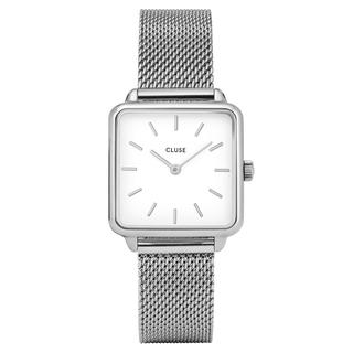 CLUSE CW0101207003 La Garçonne Silver Mesh/White - Horloge