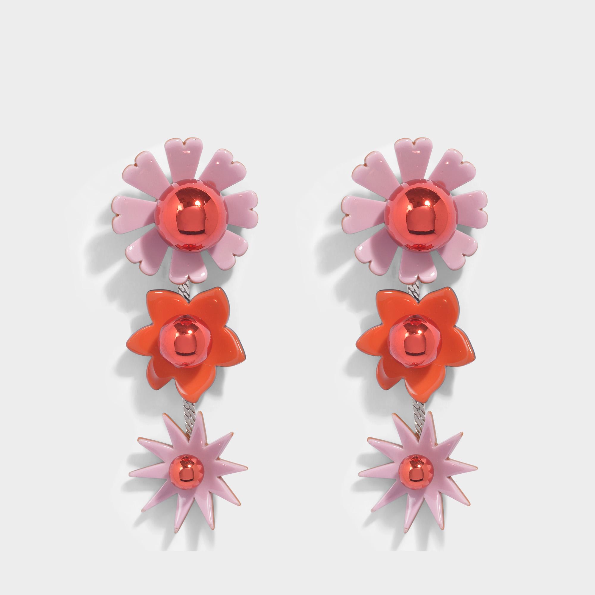 Kenzo Flowers Earrings in Paprika Metal and Plexi Flowers levering Authentieke Goedkope Prijs Te Koop Te Koop KlEeOaV
