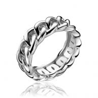 ZINZI zilveren ring gourmet glad ZIR1101