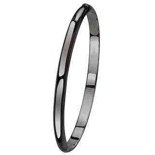Zilveren armband bangle blackplated