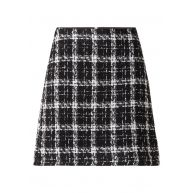 Warehouse Mini-rok van tweed met ruitdessin