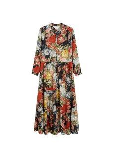 Lange jurk met bloemen