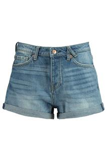 Dames Denim Short Nori Blauw