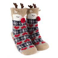 Hunkemöller Reindeer Slipper Sock Nude
