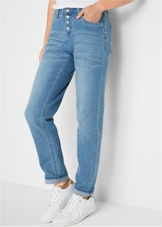 Dames stretchjeans boyfriend in blauw