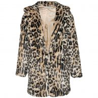 FIERCE LEOPARD FAUX FUR-L
