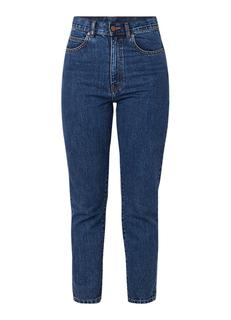 Nora high rise tapered fit cropped mom jeans
