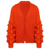 Handmade Knitted Cardigan - Orange
