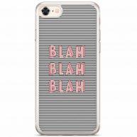 iPhone 8/7 siliconen telefoonhoesje - Blah blah blah