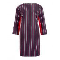 Dames stripe print jurk