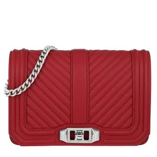 Tasche - Chevron Quilted Small Love Crossbody Scarlet in rood voor dames - Gr. Small