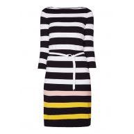 HUGO BOSS Elsara gestreepte midi-jurk van jersey met ceintuur