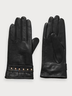 Leren handschoenen met studs