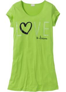 Dames nachthemd korte mouw in groen
