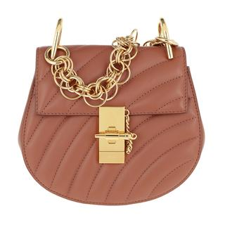 Tasche - Drew Bijou Mini Leather Chestnut Brown in bruin voor dames - Gr. Mini