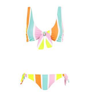 Multikleur bikini gestreept