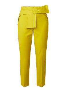 Betha high rise cropped slim fit pantalon met strikceintuur