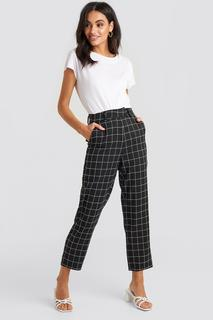 Big Check High Waist Suit Pants