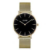 Cluse La Bohème Mesh Horloge - Goud/Zwart