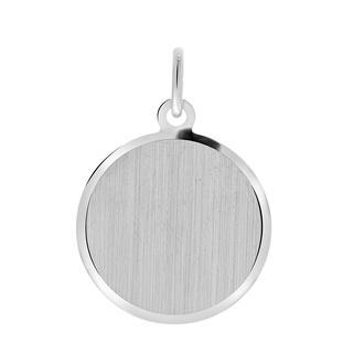 Zilveren hanger rond L